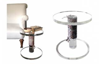 Perspex Cotton Reel Side Table