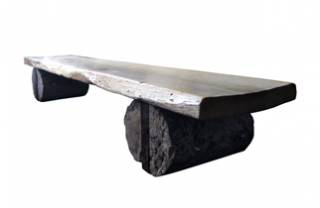 Oak and Limestone Coffee Table